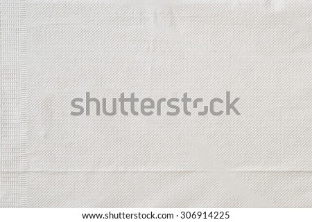 Unfolded paper napkin for background - stock photo