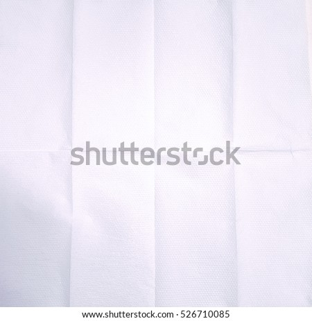 Unfolded paper napkin for background