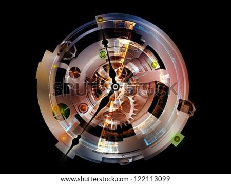 Unfolding of Clockwork - stock photo