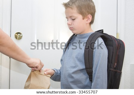 Unhappy about going to school - stock photo