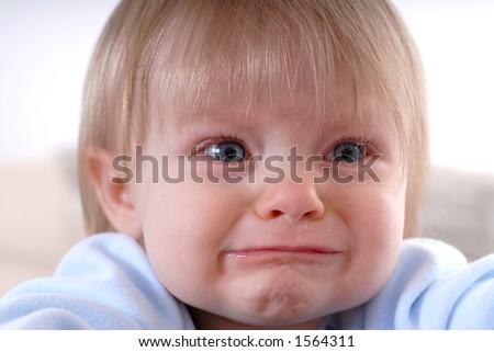 Unhappy Baby - stock photo
