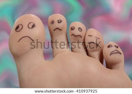 Unhappy foot and toes