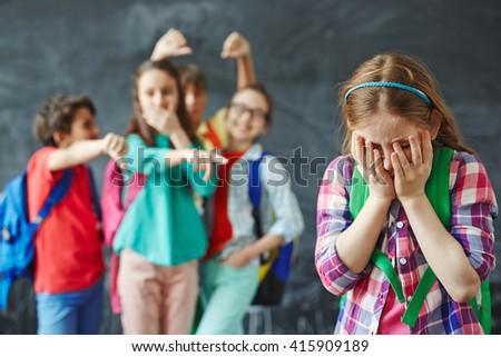 Unhappy girl - stock photo