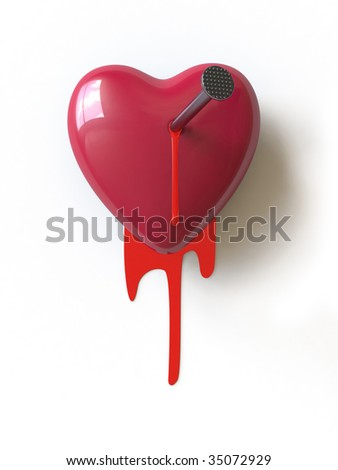 unhappy love. In my portfolio there is collection of pictures of heart. You only enter IN a SEARCH the Photographer Name: PAVEL IGNATOV and keyword: HEART - stock photo