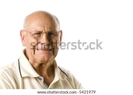 Unhappy senior man - stock photo