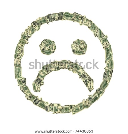 unhappy smiley - stock photo
