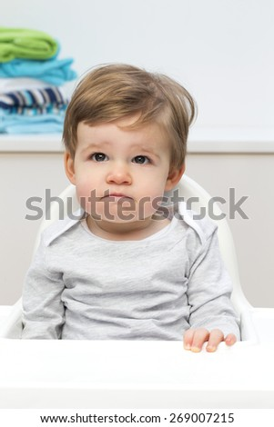 Unhappy Toddler - stock photo