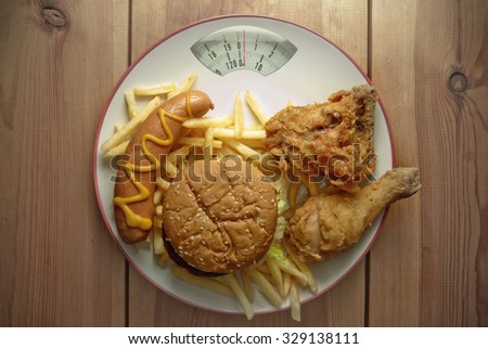 Unhealthy diet concept - stock photo