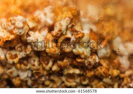 Unhealthy eating movie sweet popcorn snack food - stock photo