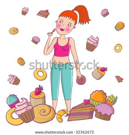 Unhealthy lifestyle - stock photo