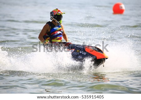 man on jetski jump on wave stock photo 163767827 shutterstock. Black Bedroom Furniture Sets. Home Design Ideas
