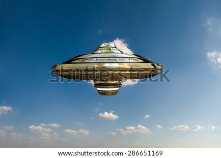 unidentified object flying in the sky - stock photo