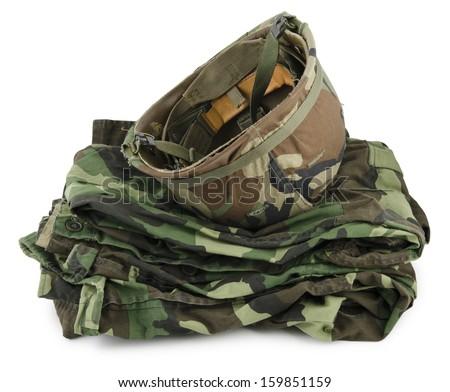 uniforms khaki - stock photo