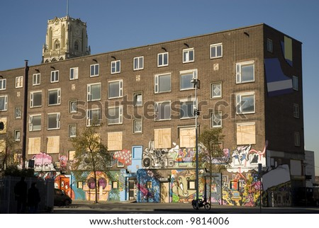 uninhabitable apartments - stock photo
