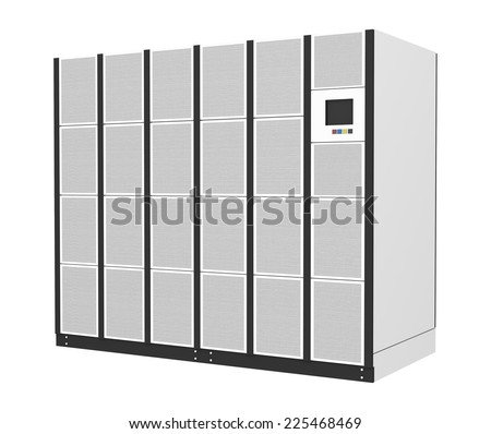 Uninterruptible power supply for data center, server room - stock photo