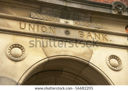 Union bank sign above entrance