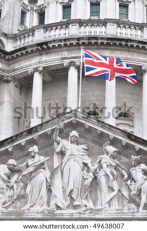 Union Flag at City Hall Belfast - stock photo