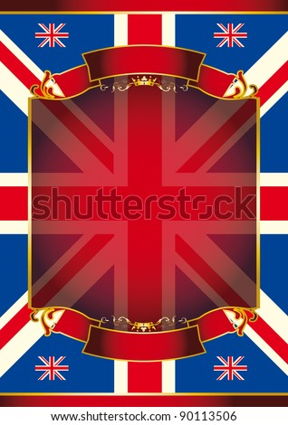 Union Jack. A patriotic background for your message - stock photo
