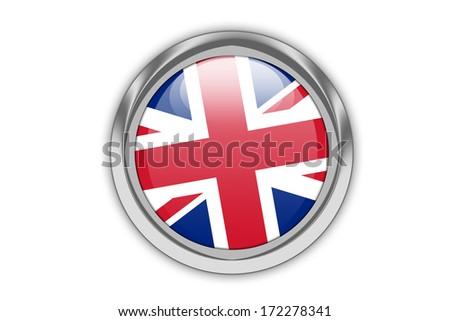 Union jack button. - stock photo