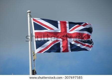 Union Jack, flag of the UK - stock photo