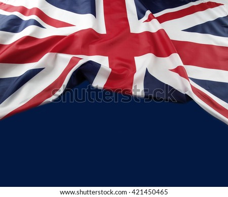 Union Jack flag on blue background - stock photo