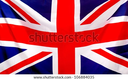 Union Jack flag to be used as background - stock photo