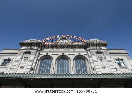 Union Station in Denver, Colorado. - stock photo