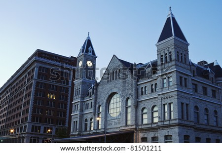 Union Station in downtown of Louisville, Kentucky - stock photo