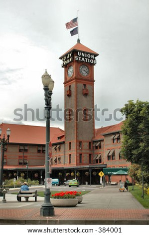 Union Station in Portland, OR - stock photo