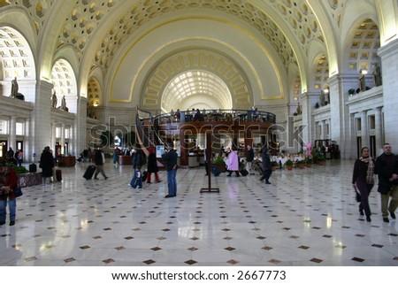 Union Station in Washington D.C. - stock photo