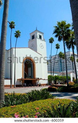 Union Station, Los Angeles, California. - stock photo