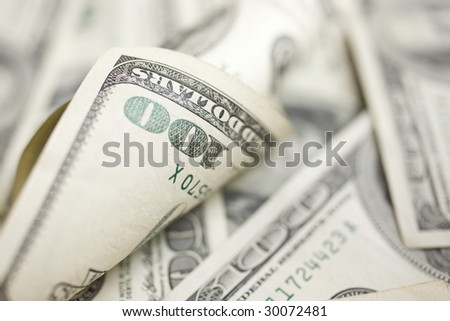 Unique background of 100 dollar Bills - stock photo