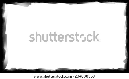 Unique black border frame and white background thick - stock photo