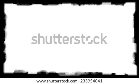 Unique Black border on white background thick - stock photo
