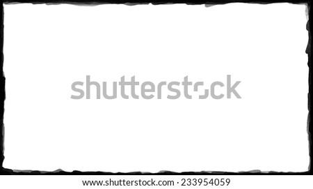 Unique Black border on white background thin - stock photo