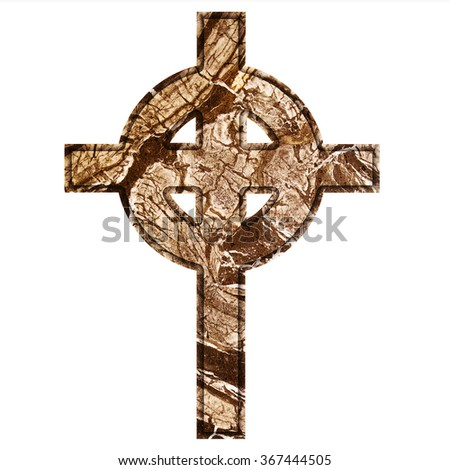 unique Celtic cross, the texture of natural stone, marble, onyx