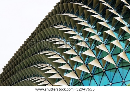 Unique glass roof background - stock photo