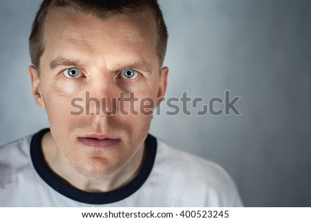 Unique handsome man with strong character looking at camera. Personality. Ukrainian ethnic. Nation. Ukraine and Russia problems