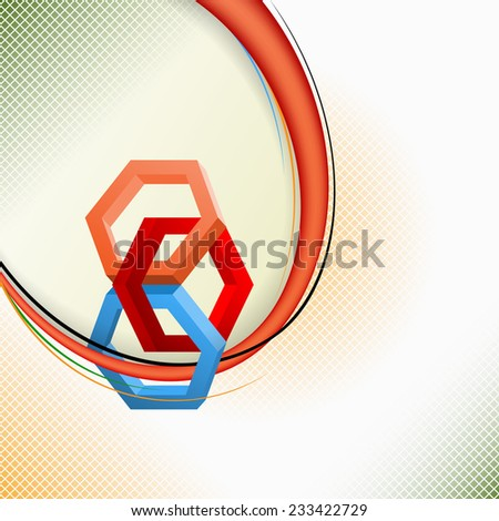 Unique Idea for abstract background; Three dimensions Hexagons in artistic design and elaborate arrangement. Abstract background for office and business, wallpaper, poster, template for designers.  - stock photo