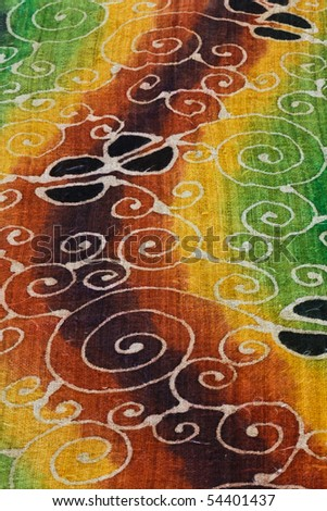 Unique pattern of the batik produce in Thailand - stock photo
