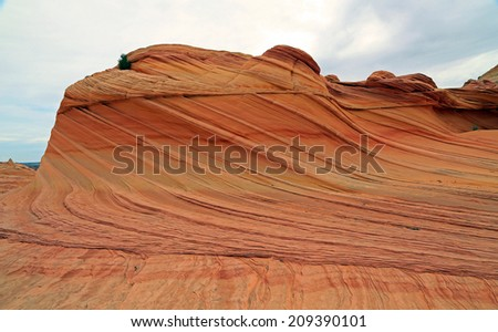 Unique sandstone geology at Coyote Butte, Utah, USA. - stock photo