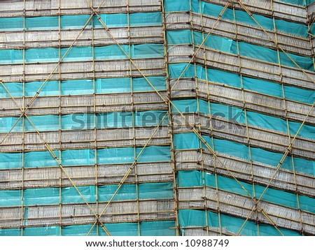 Unique scaffolding in Asia, abstract - stock photo