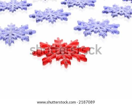 unique snowflake  (see more in my portfolio) - stock photo