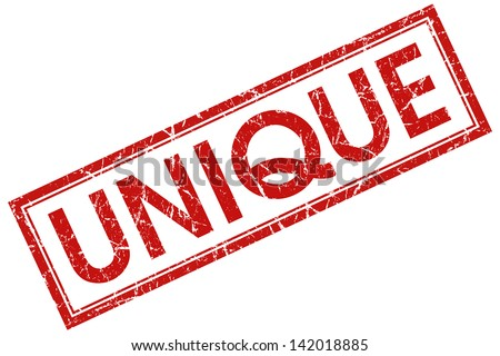 unique stamp - stock photo