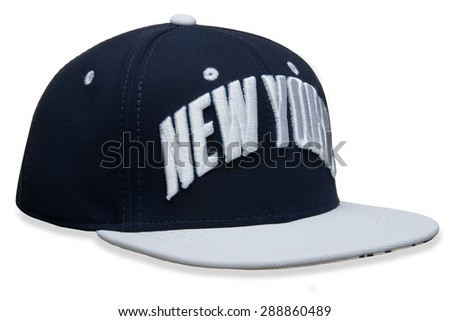 unisks cap with the inscription on a white background - stock photo