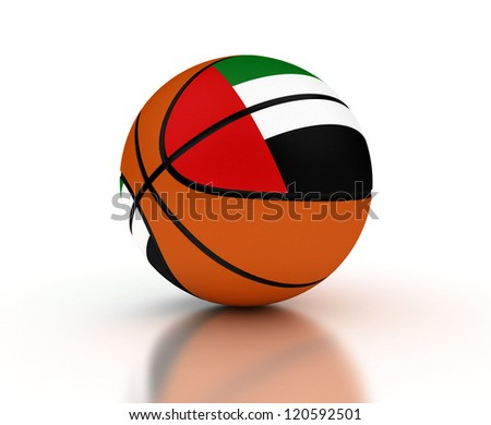 United Arab Emirates Basketball Team (isolated with clipping path) - stock photo