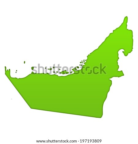 United Arab Emirates country icon map - stock photo