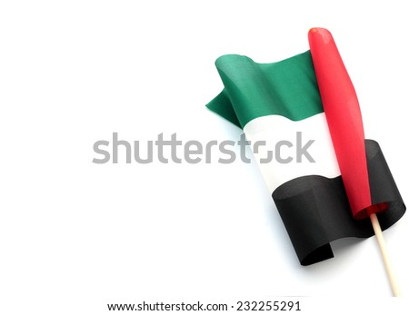 United Arab Emirates Flag - stock photo