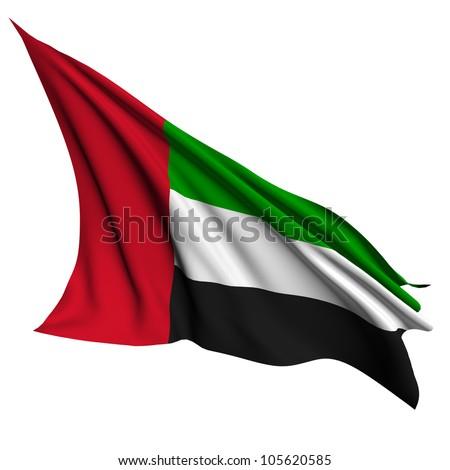 United Arab Emirates flag - collection no_4 - stock photo