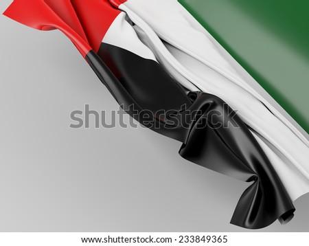 United Arab Emirates Folded Flag - stock photo